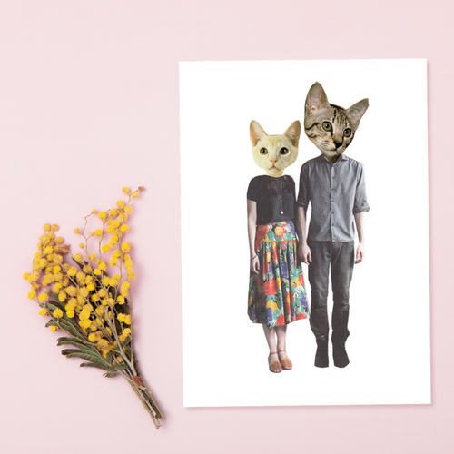 FASHCAT KITTY COUPLE CARD
