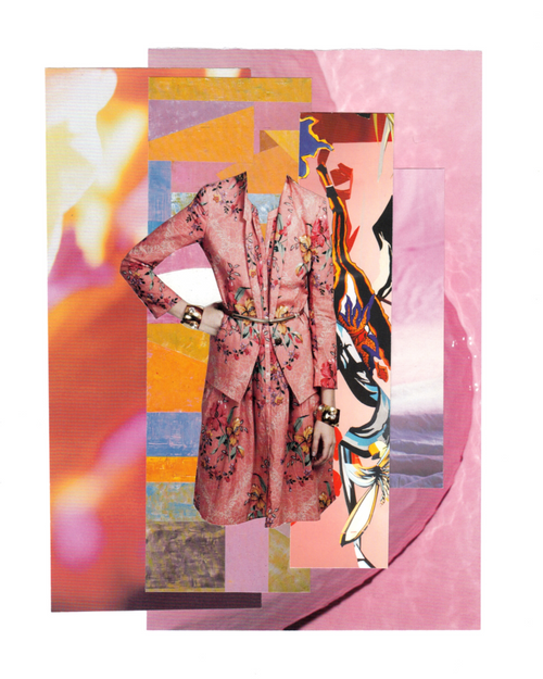Hand cut collage by Satin&Tat, Kate Cuthbert, Satin and Tat