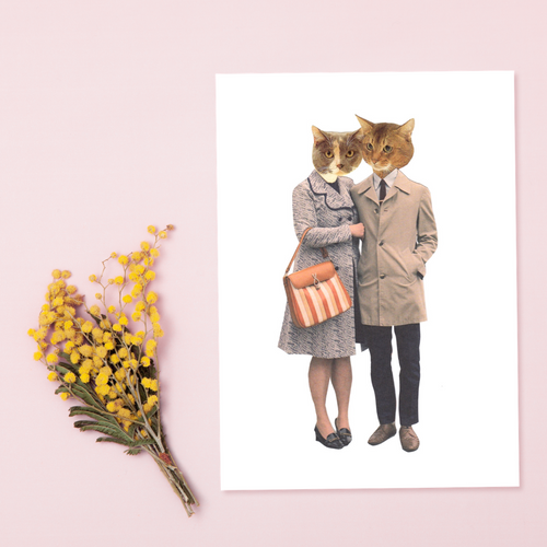 FASHCATS LOUIS & GERTIE CARD