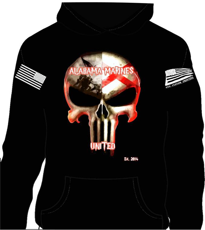 Alabama Marines United Hoodie (free shipping)