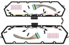 1999-2003 FORD 7.3L POWER STROKE VALVE COVER GASKET WITH GLOW PLUG AND INJECTOR HARNESS KIT (Set of 2)