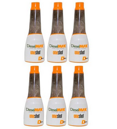 DIESELMAX ONE SHOT UPGRADE DIESEL FUEL ADDITIVED 6 PACK 8OZ BOTTLES DT2301  (TREATS UP TO 30 GALLONS PER BOTTLE)