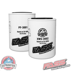FASS TITANIUM SIGNATURE REPLACEMENT PARTICLE (PF-3001) & WATER SEPARATOR (XWS-3002) FILTERS