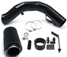 2003-2007 FORD 6.0L POWERSTROKE DIESEL F250-F350 EXCURSION 4'' COLD AIR INTAKE KIT - BLACK