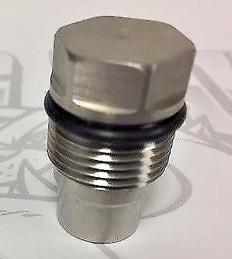 2004.5-2010 GM 6.6L DURAMAX LLY LBZ LMM / 2007.5-2012 DODGE 6.7L CUMMINS RACE FUEL RAIL PLUG with VITON O-RING