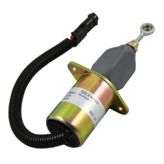 """NEW FUEL SHUT OFF SOLENOID WITH 3"""" FLANGE WIDTH FOR MOTORHOME 5.9L OR 8.3L CUMMINS / FORD FREIGHLINER 3935649"""