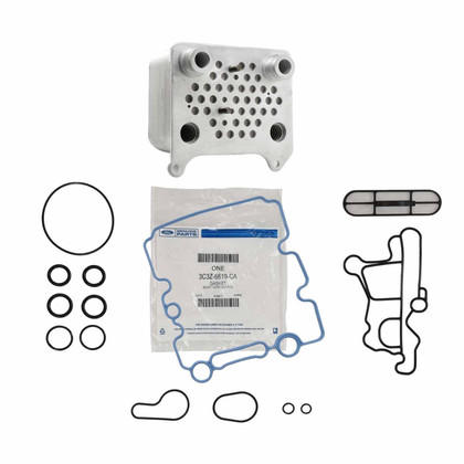 2003-2007 FORD POWERSTROKE 6.0L OIL COOLER KIT UPGRADED AFTERMARKET HIGH FLOW UNIT WITH FORD OEM OIL GASKET