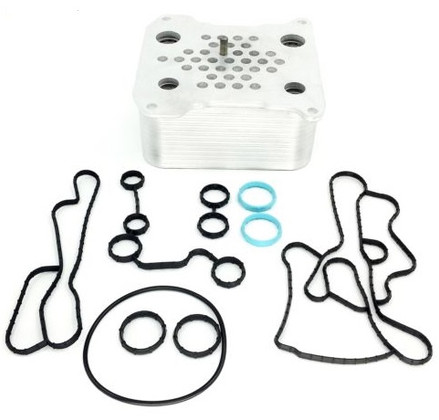 2008-2010 FORD 6.4L POWERSTROKE OIL COOLER KIT UPGRADED STYLE WITH GASKETS