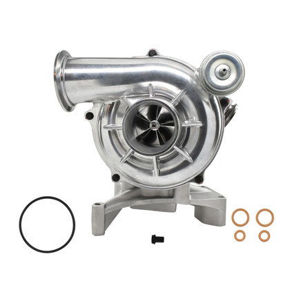 1999.5-2003 FORD 7.3L POWERSTROKE HIGH PERFORMANCE TURBO GTP38 WITH 5+5 BILLET WHEEL  (With EBP Valve Outlet and Pedestal) >>>>>> FREE SHIPPING IN THE LOWER 48 STATES!!