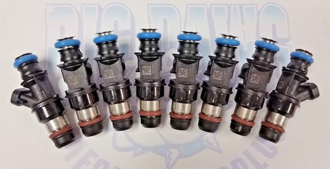 NEW SET OF 8 2001-2007 BUICK CADILLAC CHEVROLET GMC HUMMER ISUZU 4.8L 5.3L 6.0L FUEL INJECTORS 25317628