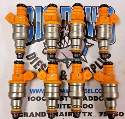 1985-2004 FORD 4.6L 5.0L 5.4L 5.8L (19 lbs) REMANUFACTURED FUEL INJECTORS (Set of 8)