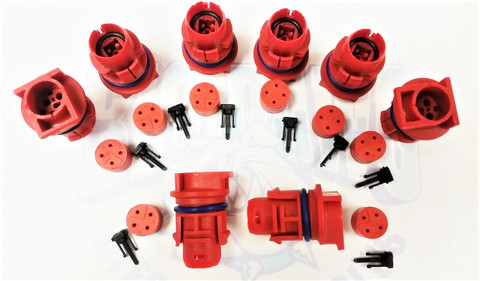 2003-2007 FORD 6.0L POWERSTROKE INJECTOR CONNECTOR PLUGS (RED) SET OF 8
