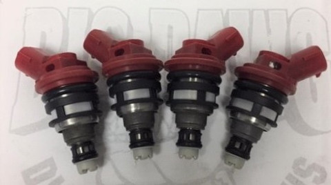NEW SET 4 SUBARU WRX STI GT EJ25 1000CC HIGH FLOW JECS SIDE FEED FUEL INJECTORS