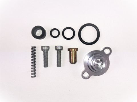 7.3L FORD POWERSTROKE FUEL RELIEF PRESSURE SPRING & SEAL KIT WITH BILLET HOUSING 1999 - 2003