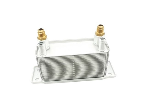 2003-2009 DODGE 5.9L CUMMINS TRANSMISSION OIL COOLER (TORQUE CONVERTER) W/O BRACKET WITH 2 NEW BRASS FITTINGS - FREE SHIPPING TO LOWER 48!!