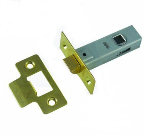 ASEC Tubular Latches Polished Brass or Satin Chrome