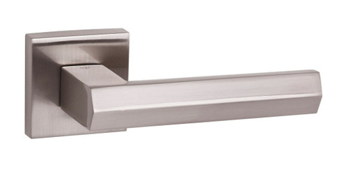 Senza Pari Davoli Lever on Rose Satin Nickel By Atlantic Handles
