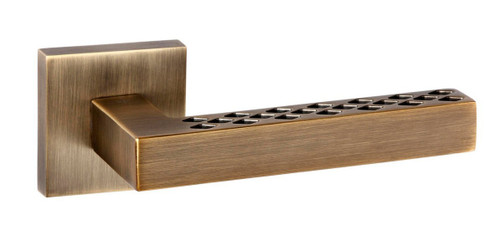 Senza Pari Pianni Lever on Rose Weathered Antique Bronze By Atlantic Handles