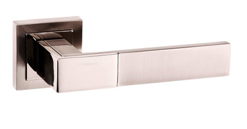 Senza Pari Casalli Lever on Rose Satin Nickel/Nickel Plated By Atlantic Handles