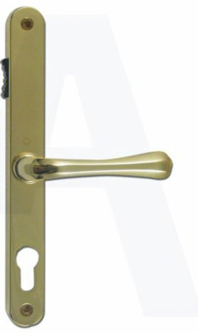 Fullex 68 UPVC Lever/Lever Door Handle with Snib PZ68mm 215mm Screw Centres