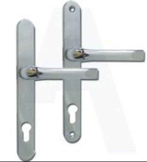 ASEC UPVC Lever/Lever Door Handle PZ92mm 211mm Screw Centres Chrome