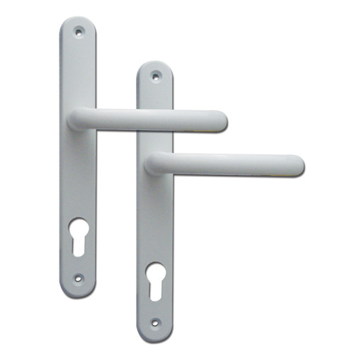 Fab & Fix Ashford UPVC Lever/Lever Door Handle PZ92mm 211mm Screw Centres White