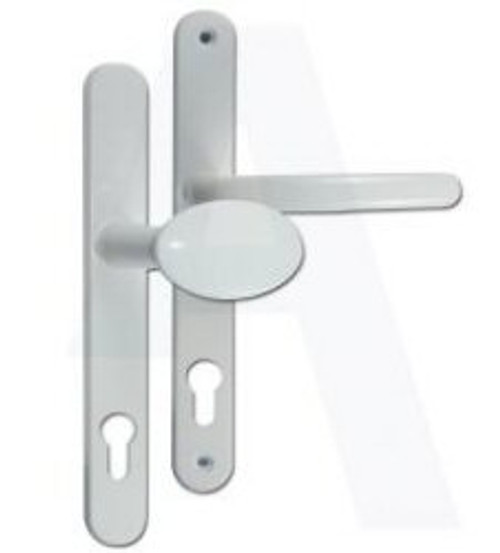 Fab & Fix Ashford UPVC Lever/Pad Door Handle PZ92mm 211mm Screw Centres