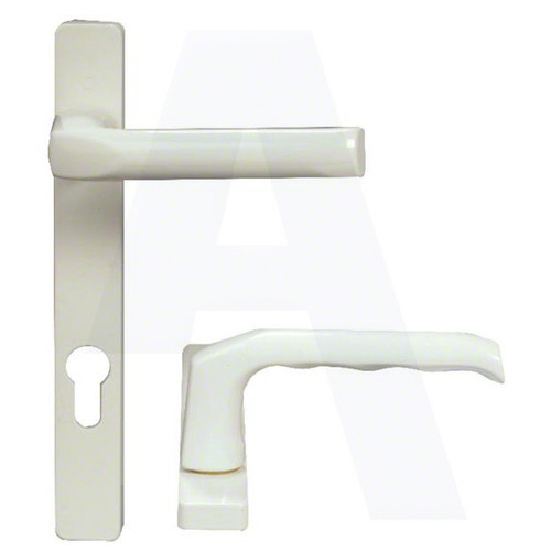 Hoppe UPVC Lever/Lever Door Handle PZ92mm 122mm Screw Centres