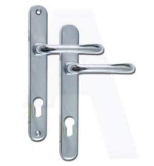 Gridlock Sienna 92 UPVC Lever/Lever Door Handle PZ92mm 210mm Screw Centres