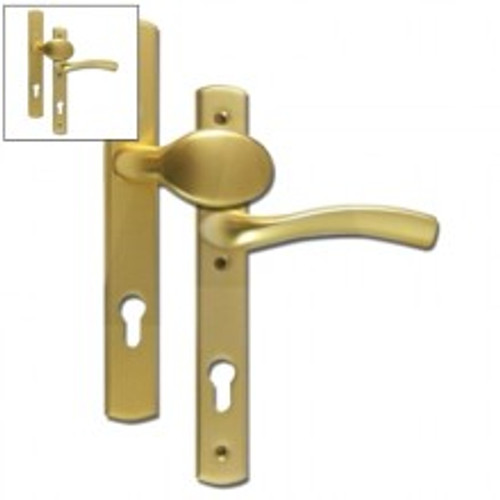 Winkhaus Palladio XL 92 UPVC Lever/Pad Door Handle PZ92mm 214mm Screw Centres