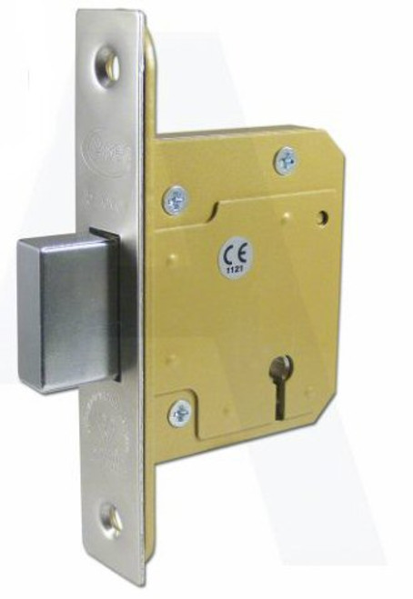 ASEC BS3621:2007  5 Lever Deadlock Stainless Steel