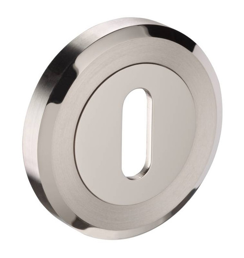 Access Hardware Duo Polished/Stainless Steel Standard Keyhole Escutcheon