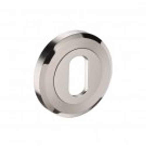 Access Hardware Duo Polished/Stainless Steel Oval Profile Keyhole Escutcheon