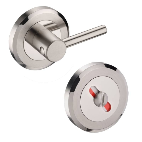 Access Hardware Duo Polished/Stainless Steel Disabled Bathroom Turn and Release With Indicator