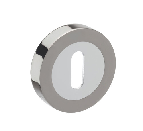 Access Hardware Polished/Satin Chrome Standard Keyhole Escutcheon