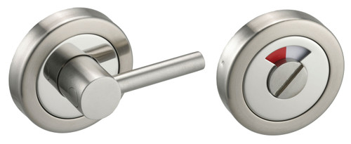 Access Hardware Polished/Satin Chrome Disabled Bathroom Turn and Release with Indicator