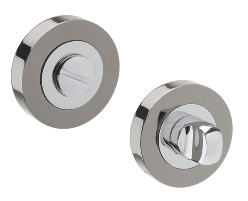 Access Hardware Black Chrome Bathroom Turn and Release with No Indicator