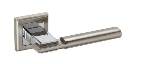Access Hardware Polished/Satin Chrome Straight Lever on Square Rose