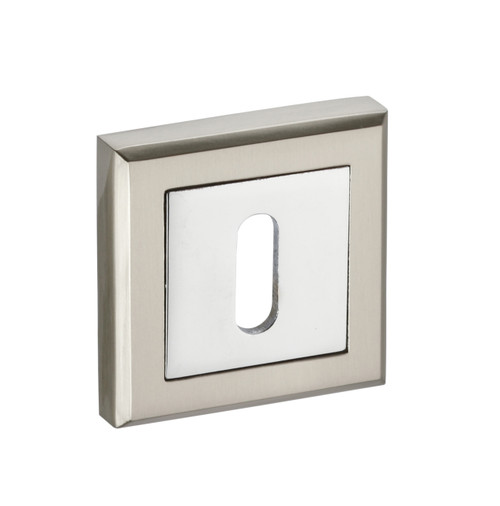 Access Hardware Polished/Satin Chrome Standard Keyhole Square Escutcheon