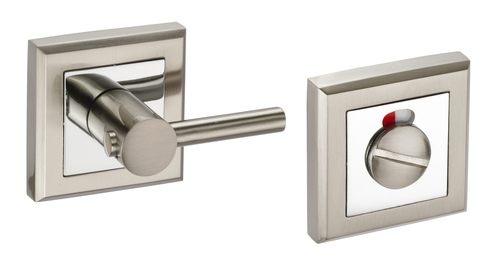 Access Hardware Polished/Satin Chrome Square Disabled Bathroom Turn and Release with Indicator
