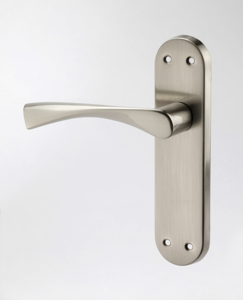 Access Hardware Satin Aluminium Winged Levers on Backplate