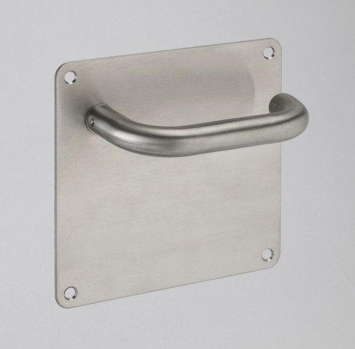 Access Hardware W Series Satin Stainless Steel Levers on Backplate