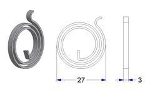 Door handle springs 2.4 turns 27mm diameter