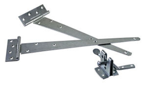 Gate Pack A Ideal For Use on Small Gates includes one pair Tee Hinges and Medium Auto Gate Catch