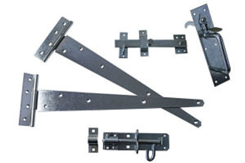 Gate Pack C Ideal For Use on Side Gates One Pair Tee Hinges,One Suffolk Latch and One Brenton Padlock Bolt