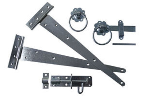 Gate Pack B Ideal For Use on Side Gates Includes one pair of Tee Hinges,One Plain Ring Handle Gate Latch and One Brenton Padlock Bolt