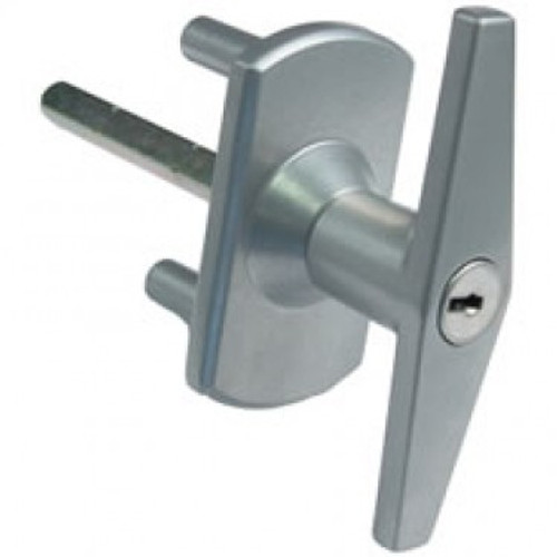 Silver Garage Door Handle with Diamond Spindle