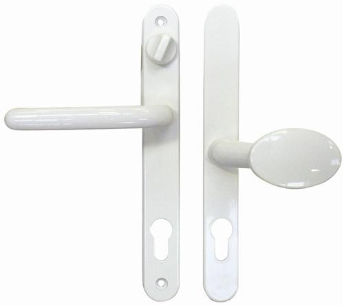 Fab & Fix Balmoral UPVC Offset Lever/Pad Door Handle with Snib PZ92/62mm 212mm Screw Centres