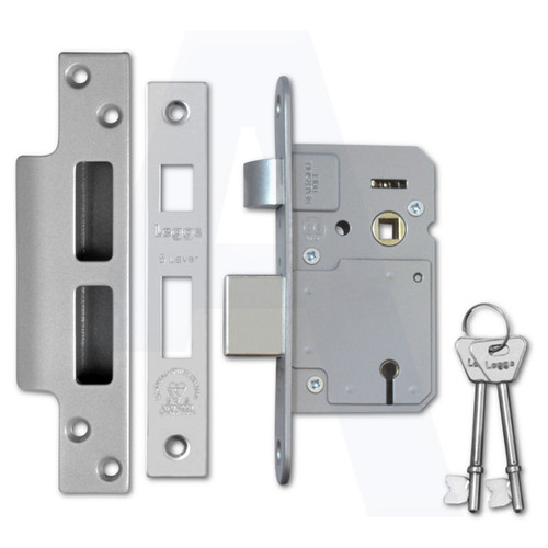 Legge BS3621:2007 5 Lever Sashlocks Satin Stainless Steel