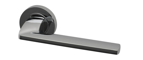 Fusion Lever on Round Rose Polished Chrome or Satin Chrome